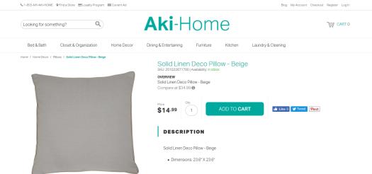 Aki Home Solid Linen
