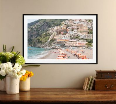 beach-days-in-positano-framed-print-by-rebecca-plotnick-o
