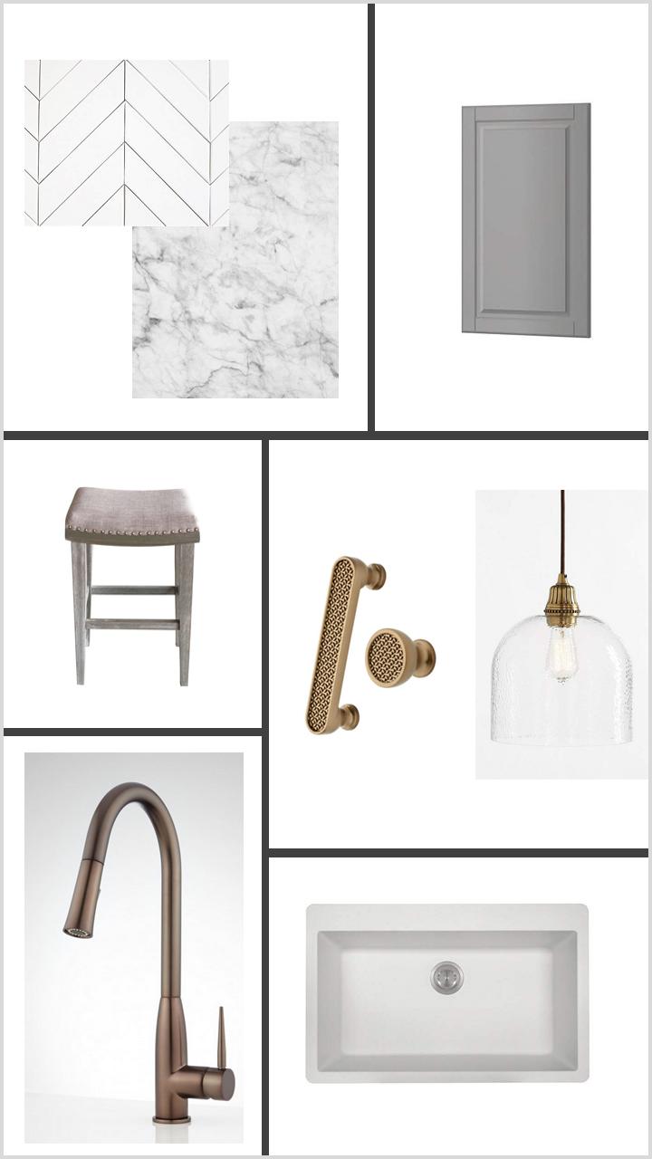 Gray Kitchen w/ Bronze Accents
