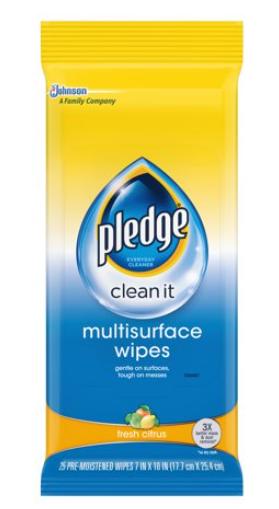 Pledge Wipes